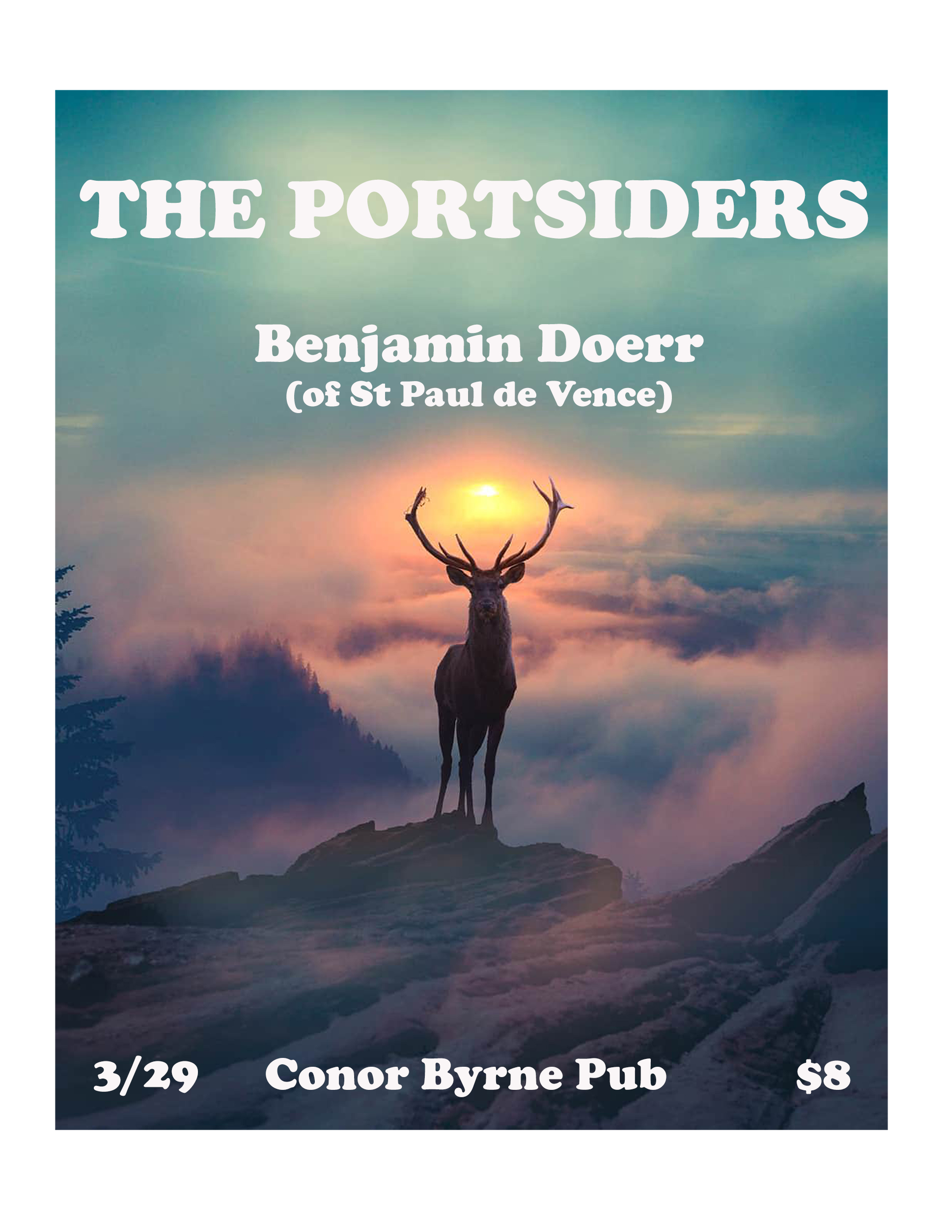Portsiders March 29th show flyer